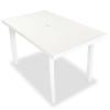fehér műanyag kerti asztal 126 x 76 72 cm