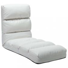 Fehér összecsukható műbőr padlómatrac bútor