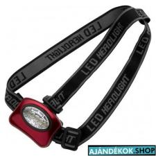 Fejlámpa 5 LED-es, piros elemlámpa