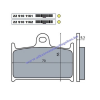 Fékbetét SUZUKI RF 900ccm RMS 1161