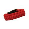Fekete csatos paracord karkötő - piros