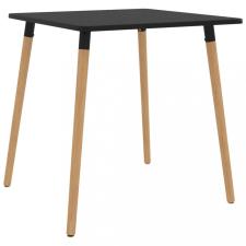 Fekete fém étkezőasztal 80 x 80 x 75 cm bútor