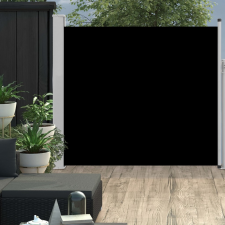 Fekete kihúzható oldalsó teraszi napellenző 170 x 300 cm kerti bútor