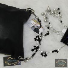 Fekete láncos kézipántos táska kézitáska és bőrönd