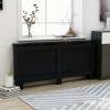 Fekete MDF radiátorburkolat 172 x 19 x 81 cm