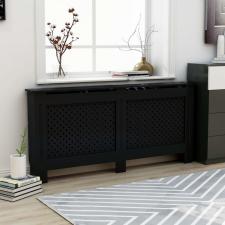 Fekete MDF radiátorburkolat 172 x 19 x 81 cm hűtés, fűtés szerelvény