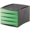 FELLOWES 4 fiókos irattároló, műanyag, FELLOWES Green2Desk, zöld