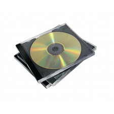 FELLOWES CD-tok, normál, 2 lemez, FELLOWES, fekete írható és újraírható média