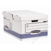 FELLOWES Csapófedeles archiváló konténer, BANKERS BOX®  SYSTEM BY FELLOWES® , kék (IFW11415)