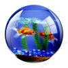 FELLOWES Egéralátét, kör alakú, FELLOWES Brite™, akvárium (IFW58811)