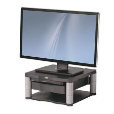 """FELLOWES Monitorállvány, FELLOWES, """"Premium Plus™"""", grafitszürke monitor kellék"""