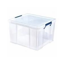 FELLOWES Műanyag tároló doboz, átlátszó, 48 liter, FELLOWES,  ProStore™ papírárú, csomagoló és tárolóeszköz