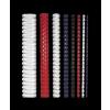 FELLOWES Spirál, műanyag, 6 mm, 10-20 lap, , 25 db, fehér