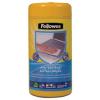 FELLOWES Tisztítókendő, felületek tisztításához, antibakteriális, 75+25 db, FELLOWES