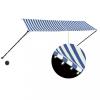 Feltekerhető kék és fehér napellenző LED-del 350 x 150 cm
