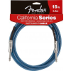 Fender California Cable 15' Lake Placid Blue