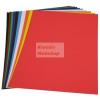 Fényes papír - Enyvezett hátú fényes papír, Tíz színben, mappában