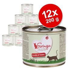 Feringa Menü Duo-változatok gazdaságos csomag 12 x 200 g - Szárnyas macskaeledel