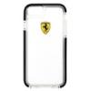 Ferrari Ferrari Shockproof kemény műanyag hátlaptok Apple iPhone 6 4.7, 6S 4.7-hez átlátszó-fekete (FEGLHCP6BK)*