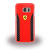 Ferrari Samsung Galaxy S7 Daytona Real Carbon Hard hátlap, tok, piros