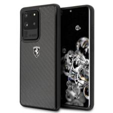 Ferrari tok FEHCAHCS69BK S20 Ultra G988 fekete Carbon Heritage telefontok tok és táska