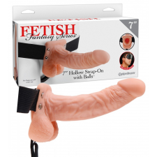 Fetish Strap-on 7 - felcsatolható üreges dildó (natúr) szexjáték