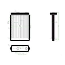Fiat Doblo 2001.01.01-2005.09.30 Fűtőradiátor MM R (125P) fűtőradiátor