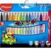 Filctoll készlet, 2,8 mm, kimosható, MAPED Color`Peps Jungle, 18 különböző szín