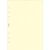 FILOFAX Kalendárium betét, jegyzetlap, personal méret, sima, FILOFAX, krémszín