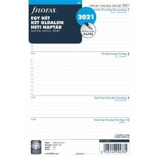 FILOFAX Kalendárium betét, tervező, A5, heti, 1 hét/2 oldal, 2021, FILOFAX naptár, kalendárium