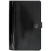 FILOFAX Kalendárium, gyűrűs, betétlapokkal, personal méret, FILOFAX, Original, lakkbőr fekete (NFX022436)