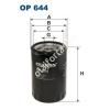 Filtron OP644 Filron olajszűrő