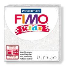 "FIMO Gyurma, 42 g, égethető, FIMO ""Kids"", glitteres fehér gyurma"