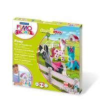 """FIMO Gyurma készlet, 4x42 g, égethető, FIMO """"Kids Form & Play"""", pónik gyurma"""