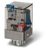 Finder Relé 230VAC 3morze 10A tesztgomb+állapot indikátor