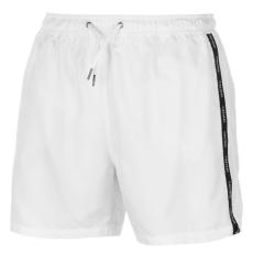 Firetrap férfi fürdőnadrág - Firetrap Taped Swim Shorts Mens White
