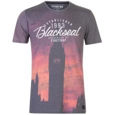 Firetrap férfi póló - Firetrap Blackseal London Clock T Shirt Multi