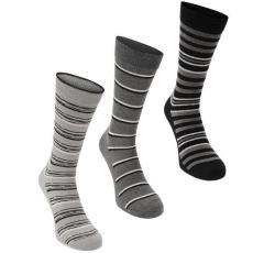 Firetrap zokni 3 pár/csomag, Szürke csíkos - Firetrap Dress Sock Gift Set Mens