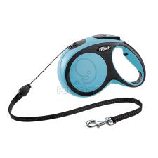 Flexi Comfort M - 5 méteres zsinóros póráz kék nyakörv, póráz, hám kutyáknak