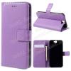 FLEXI notesz tok / flip tok - LILA - asztali tartó funkciós, oldalra nyíló, rejtett mágneses záródás, bankkártya tartó, szilikon belsõ - HTC One A9