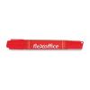 """FLEXOFFICE """"PM04"""" 0,8/6,0 mm kúpos/vágott kétvégű piros alkoholos marker"""