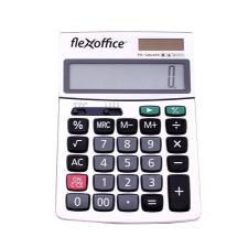 """FLEXOFFICE Számológép, asztali, 12 számjegy,  """"FO-CAL02S"""", ezüst számológép"""