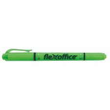 """FLEXOFFICE Szövegkiemelő, 1,0/4,0 mm, kétvégű, FLEXOFFICE """"HL01"""", zöld filctoll, marker"""
