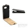 Flip szilikon belső Flip tok szilikon belsővel, Samsung G960 Galaxy S9, fekete