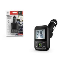 FM-08BT FM-transmitter - Bluetooth + USB + memóriakártya olvasó - fekete tok és táska