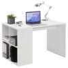 FMD fehér íróasztal oldalpolcokkal 117 x 72,9 x 73,5 cm