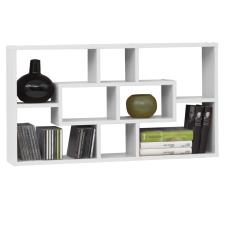 FMD fehér téglalap alakú 8 rekeszes fali polc bútor