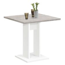 FMD homok-tölgyszínű és fehér étkezőasztal 70 cm bútor