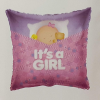 Fólia nagy lufi babaszületésre Párna pink