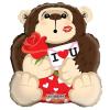 Fólia nagy lufi I love you majom